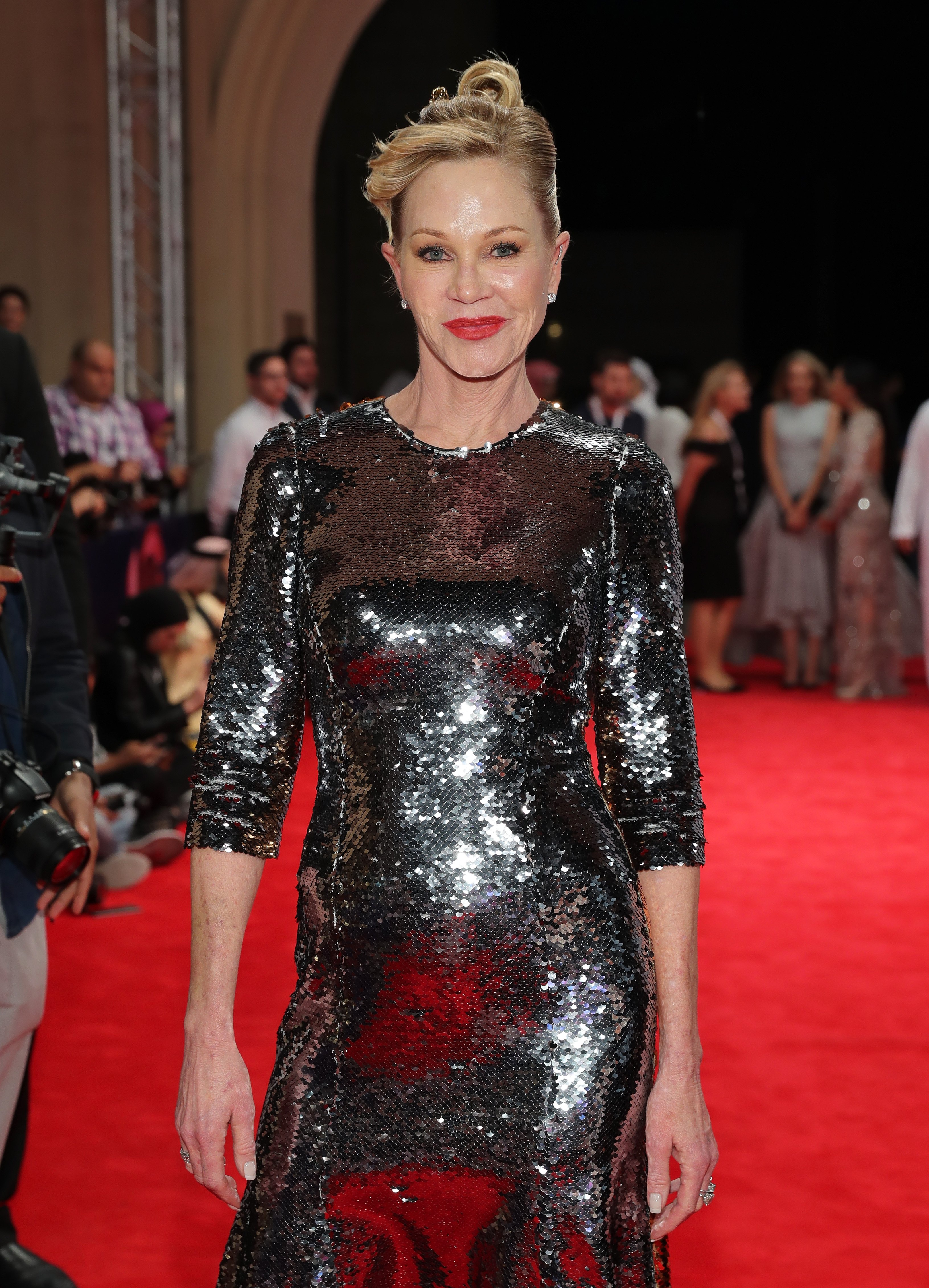 Melanie Griffith attends the Dubai International Film Festival in the United Arab Emirates on December 11, 2016   Photo: Getty Images