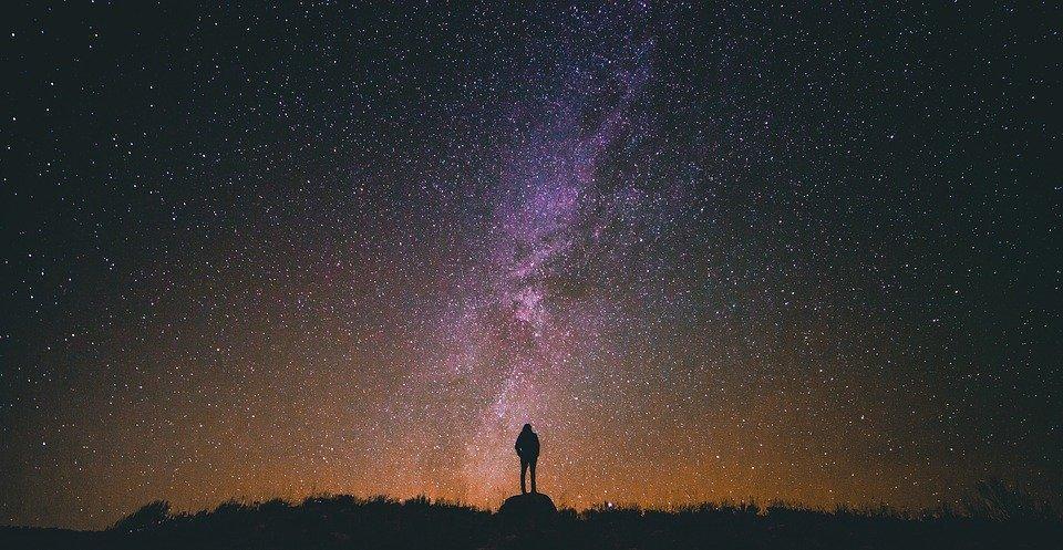 Cielo estrellado.   Imagen:  Pixabay
