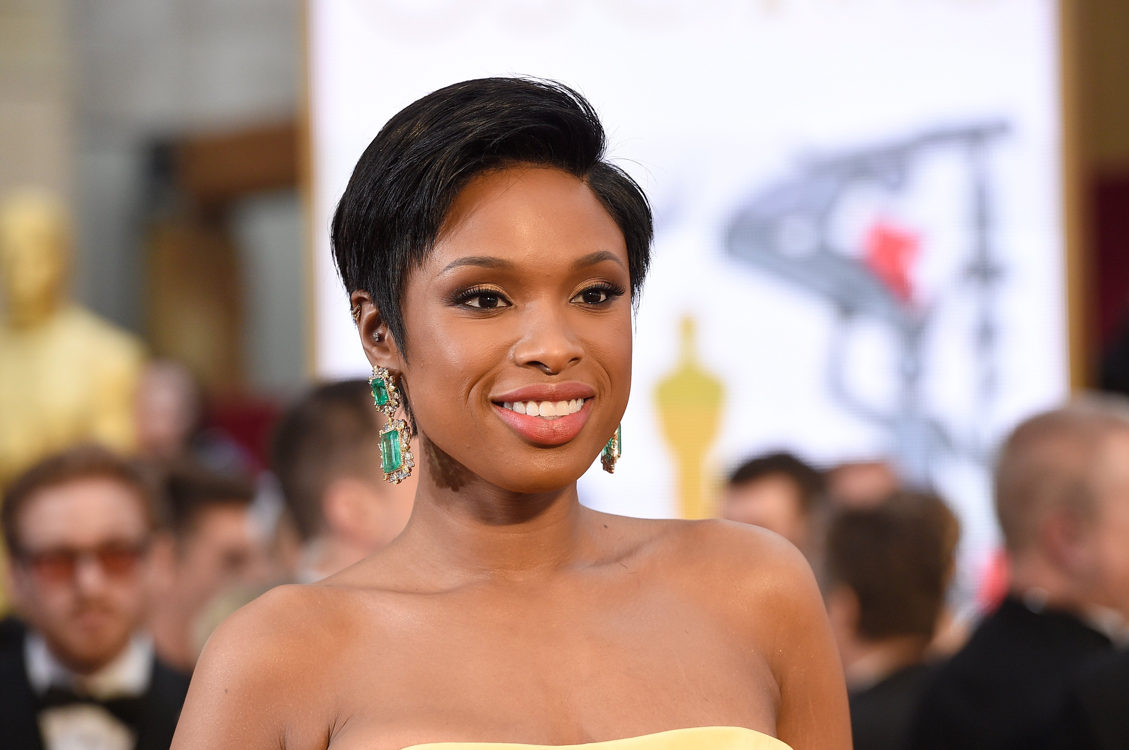 Jennifer Hudson at the 87th Annual Academy Awards at Hollywood & Highland Center on February 22, 2015 in Hollywood, California.| Source: Getty Images