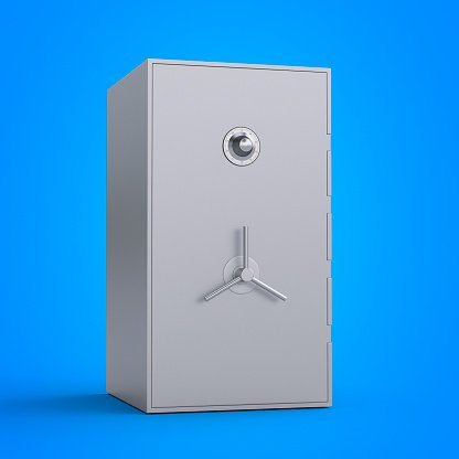 Illustration of a safe on a blue wall | Phot: Getty Images