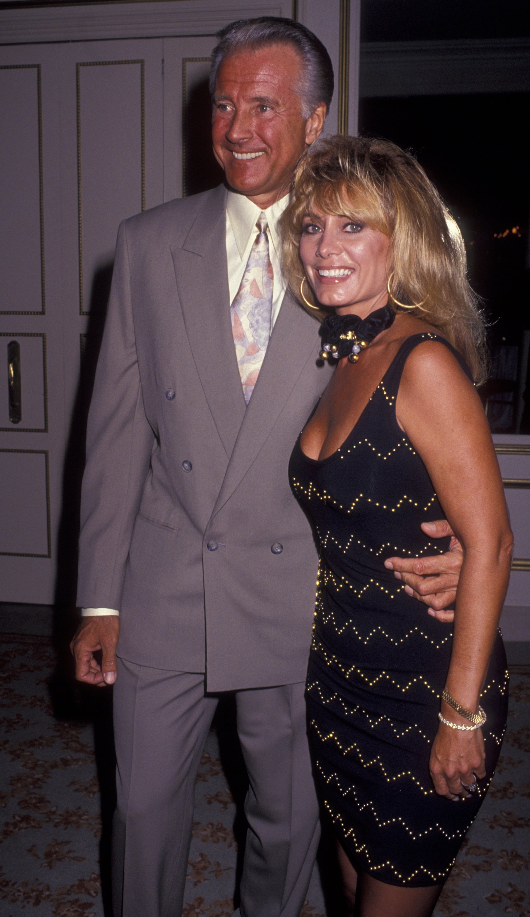 Lyle Waggoner and wife Sharon Kennedy attend American Foundation of the Performing Arts Gala on September 29, 1991. | Source: Getty Images
