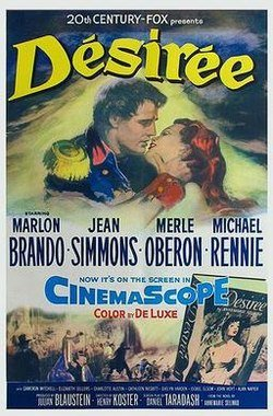 "Poster for ""Desirée"" with Marlon Brando, Jean Simmons and Merle Oberon 1954 