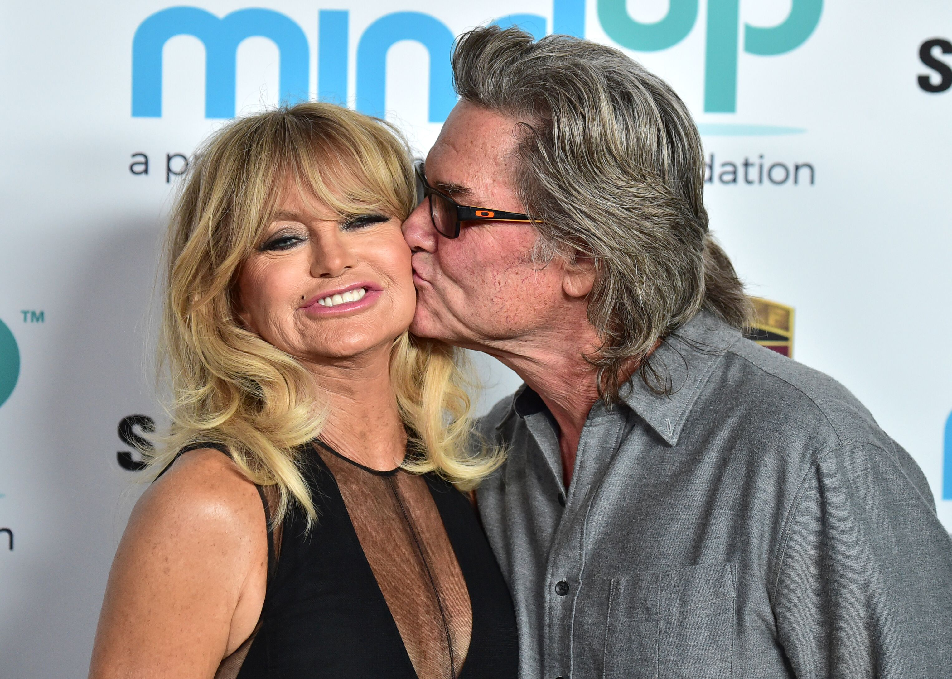 """Goldie Hawn and Kurt Russell at her """"Love In For Kids"""" event on November 3, 2017, in Beverly Hills, California 