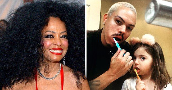 Diana Ross' Son Evan and Granddaughter Jagger Look like Twins While Brushing Their Teeth (Photo)