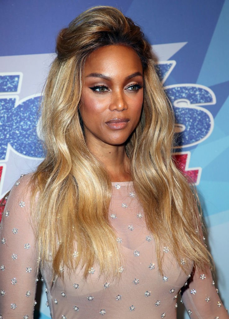 "Tyra Banks at the finale of ""America's Got Talent"" season 12 