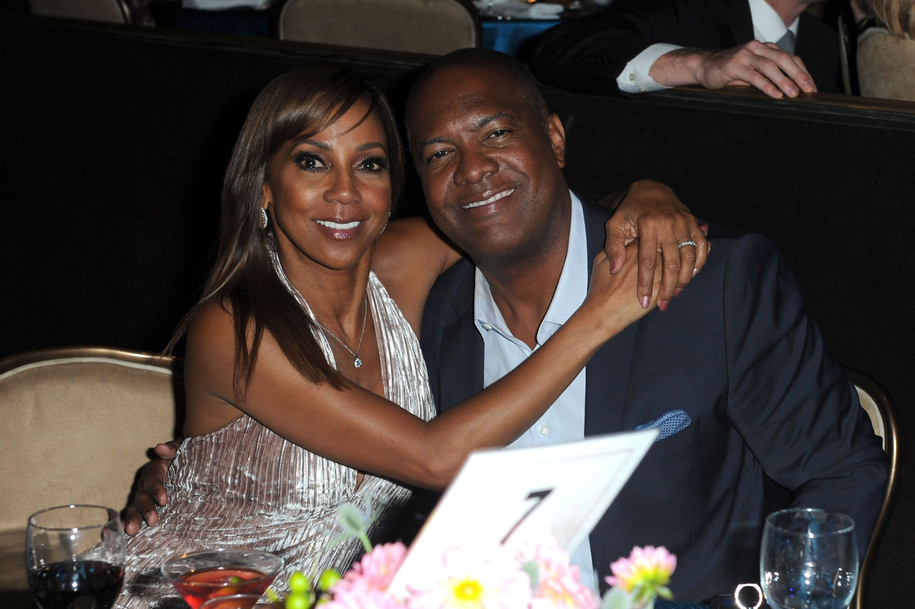 Holly Robinson Peete and Rodney Peete at the Habitat LA 2018 Los Angeles Builders Ball at The Beverly Hilton Hotel on September 27, 2018 | Photo: Getty Images