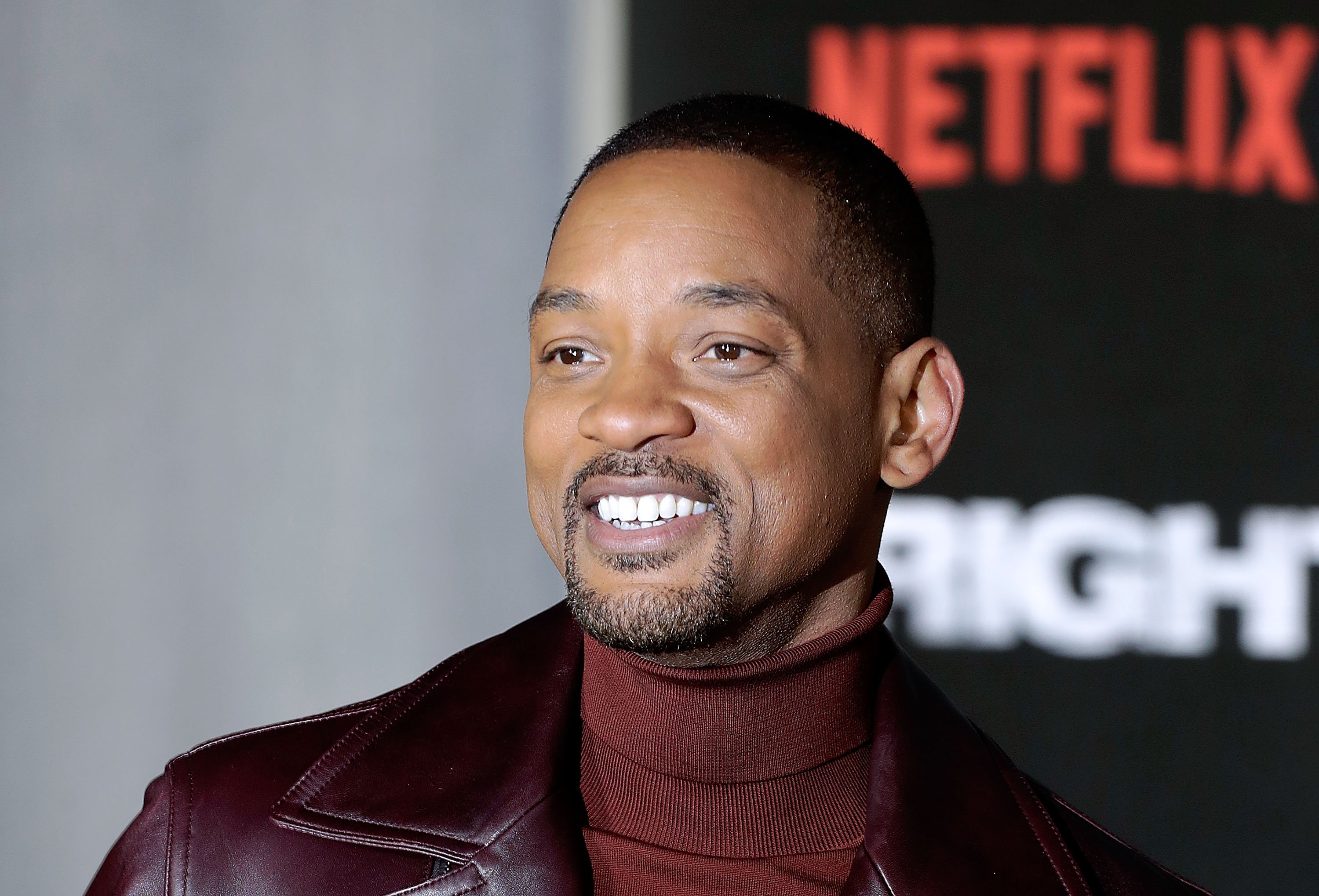 """Will Smith at the European premiere of """"Bright"""" in December 2017. 