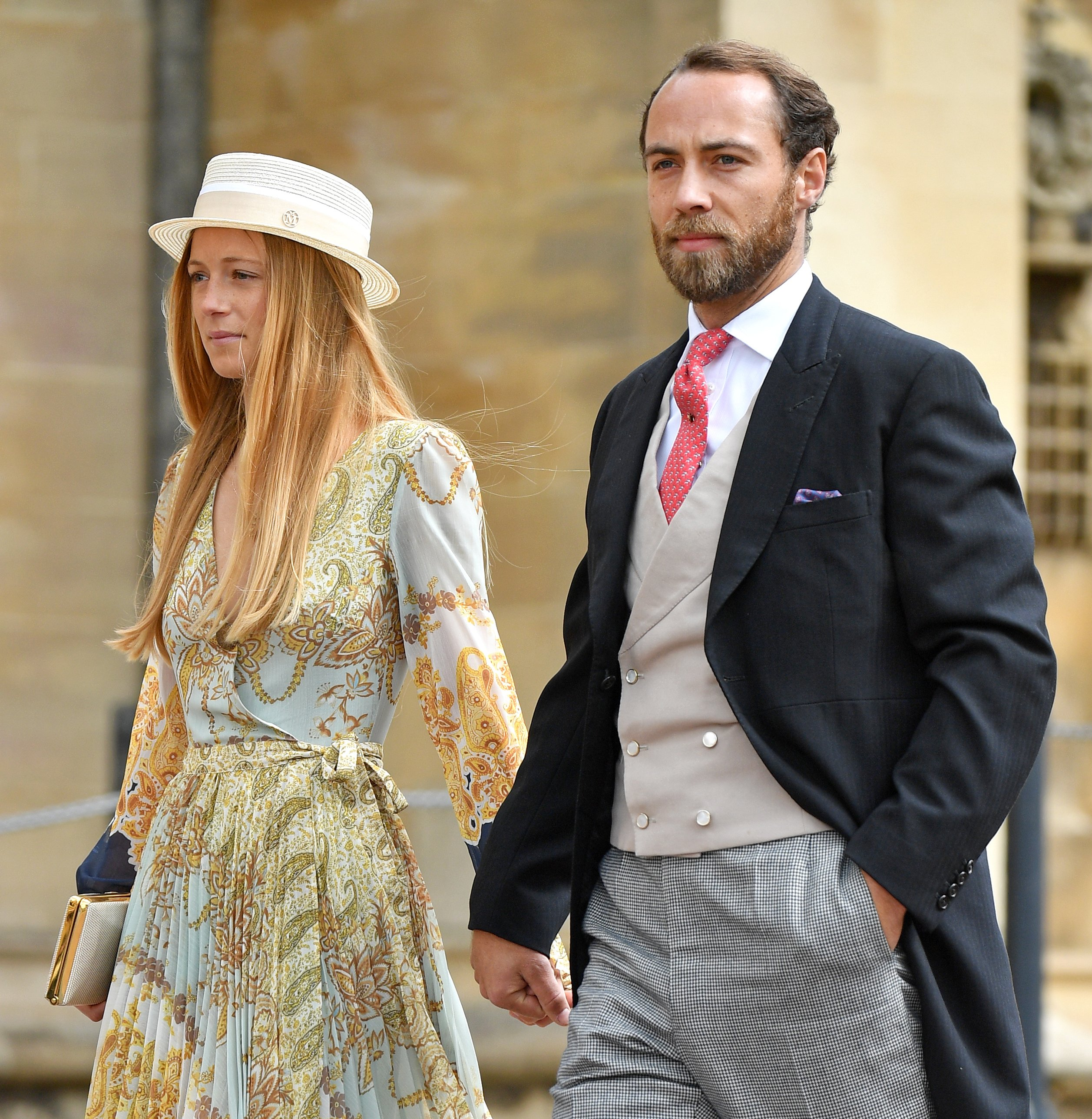 James Middleton and fiance Alizee Thevenet attend the wedding of Lady Gabriella and Thomas Kingston in 2019. | Photo: Getty Images