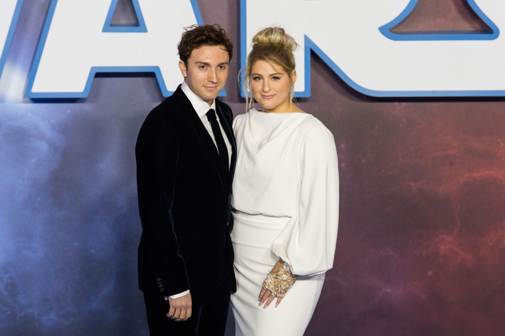 Daryl Sabara and Meghan Trainor during the European film premiere of 'Star Wars: The Rise of Skywalker' at Cineworld Leicester Square on 18 December, 2019 in London, England. | Source: Getty Images