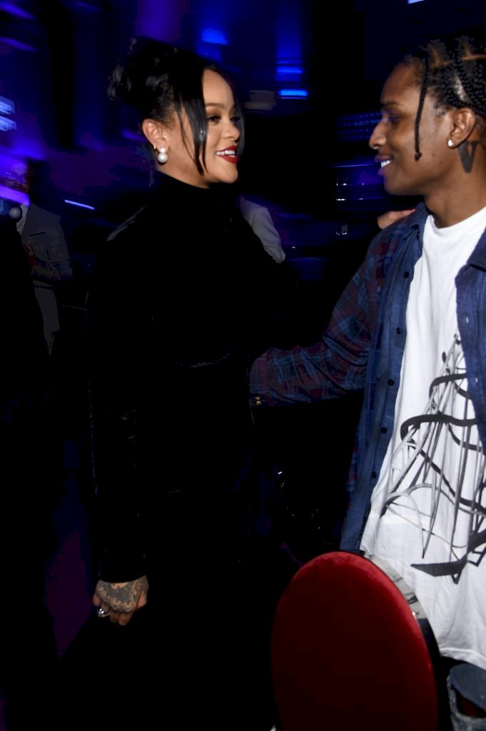 NEW YORK, NEW YORK - SEPTEMBER 12: Rihanna (L) and A$AP Rocky attend Rihanna's 5th Annual Diamond Ball Benefitting The Clara Lionel Foundation at Cipriani Wall Street on September 12, 2019 in New York City. (Photo by Dimitrios Kambouris/Getty Images for Diamond Ball)