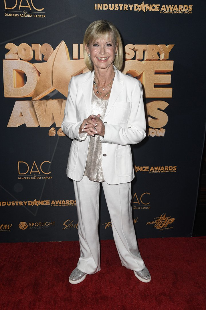 Olivia Newton-John attending the 2019 Industry Dance Awards in Los Angeles, California, in August 2019. I Image: Getty Images.