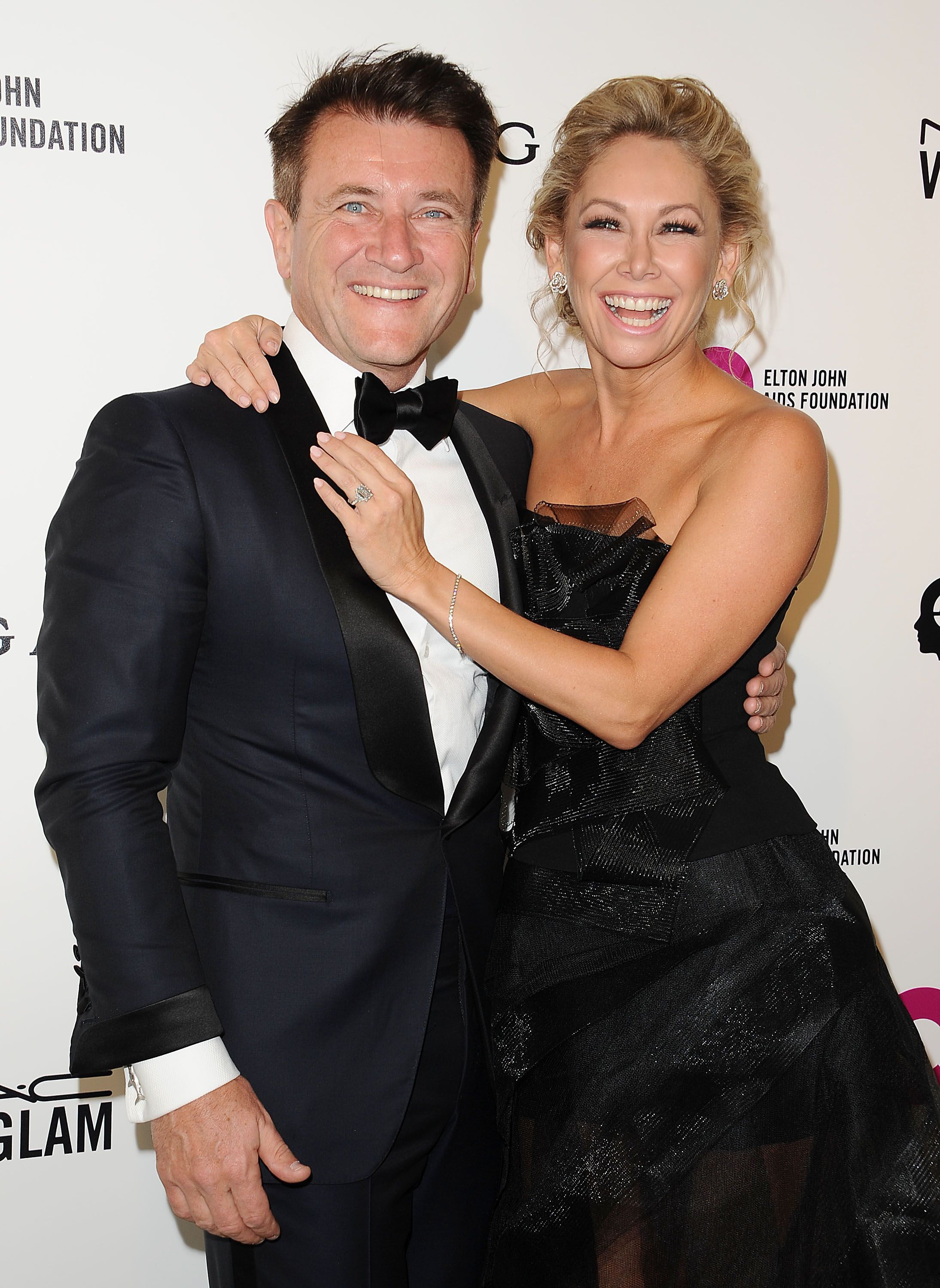 Robert Herjavec and Kym Johnson at the 24th annual Elton John AIDS Foundation's Oscar viewing party in 2016 in West Hollywood | Source: Getty Images