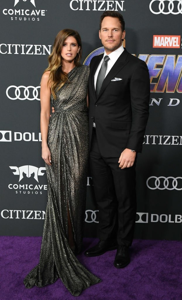 """Katherine Schwarzenegger and Chris Pratt attend the World Premiere Of Walt Disney Studios Motion Pictures """"Avengers: Endgame"""" at Los Angeles Convention Center. 