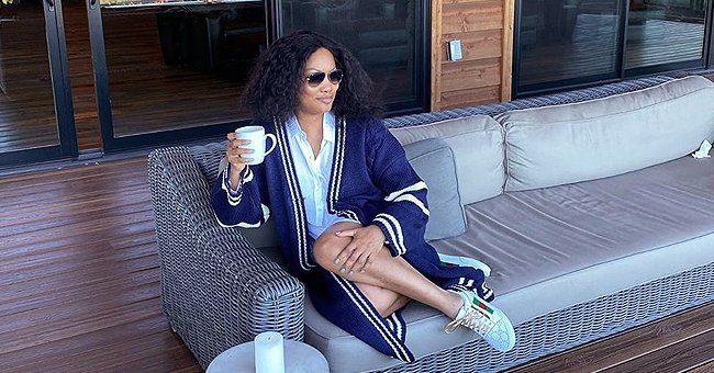 Garcelle Beauvais Poses in a Lavish House with a Stunning View as She Shows Morning Routine