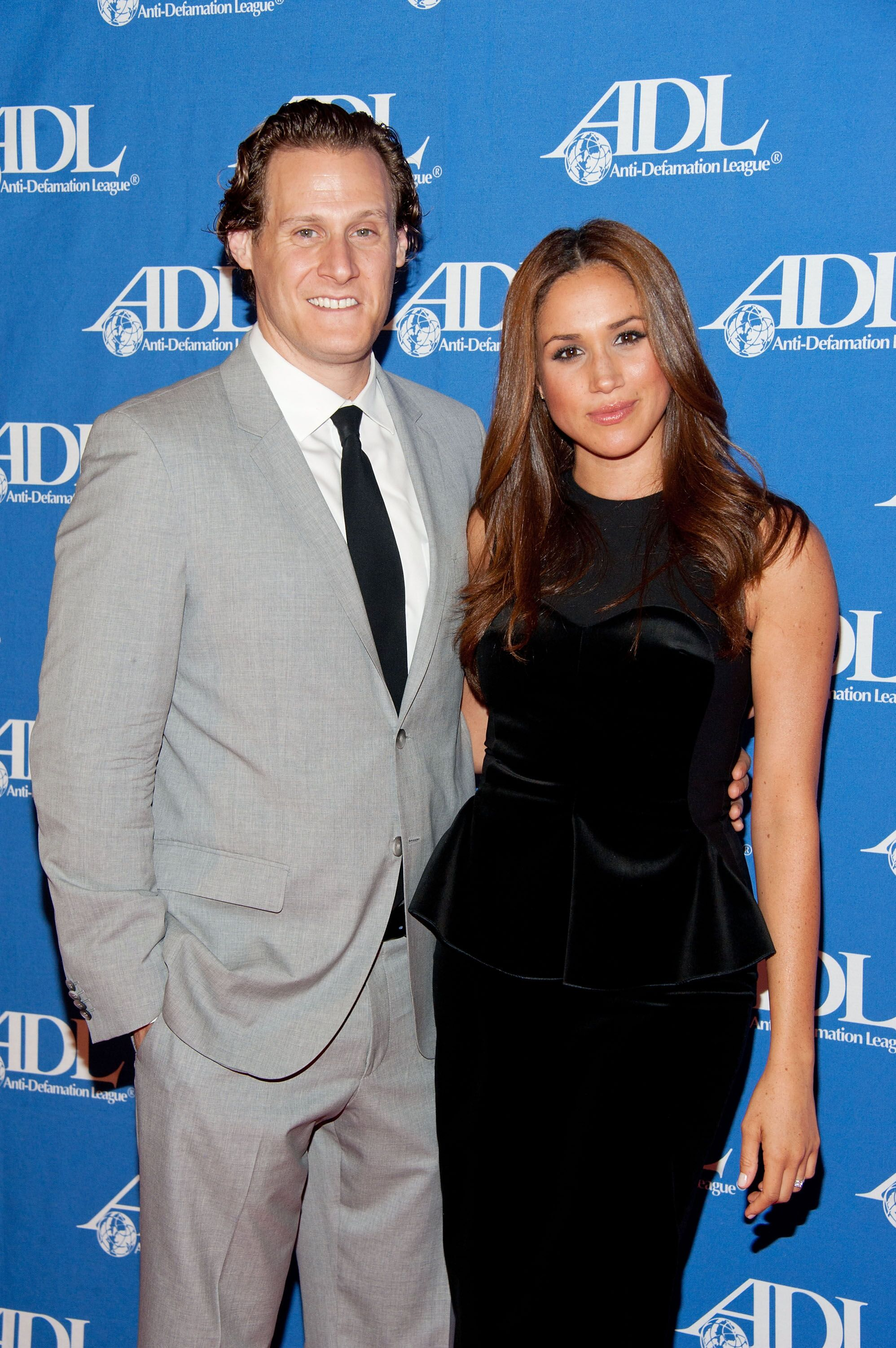 Trevor Engelson and Meghan Markle at a Anti-Defamation League Event | Source: Getty Images