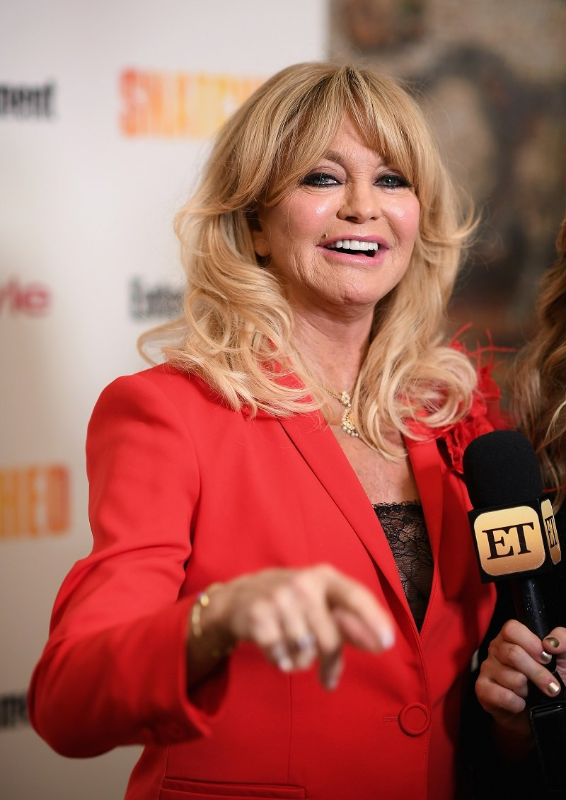 """Goldie Hawn attends the """"Snatched"""" New York Premiere at the Whitby Hotel on May 2, 2017. 