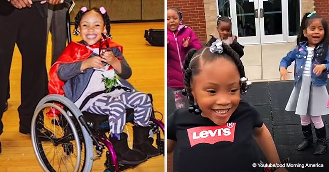 4-Year-Old Girl with Spina Bifida Walks for the 1st Time as Her Friends Cheer in Touching Video