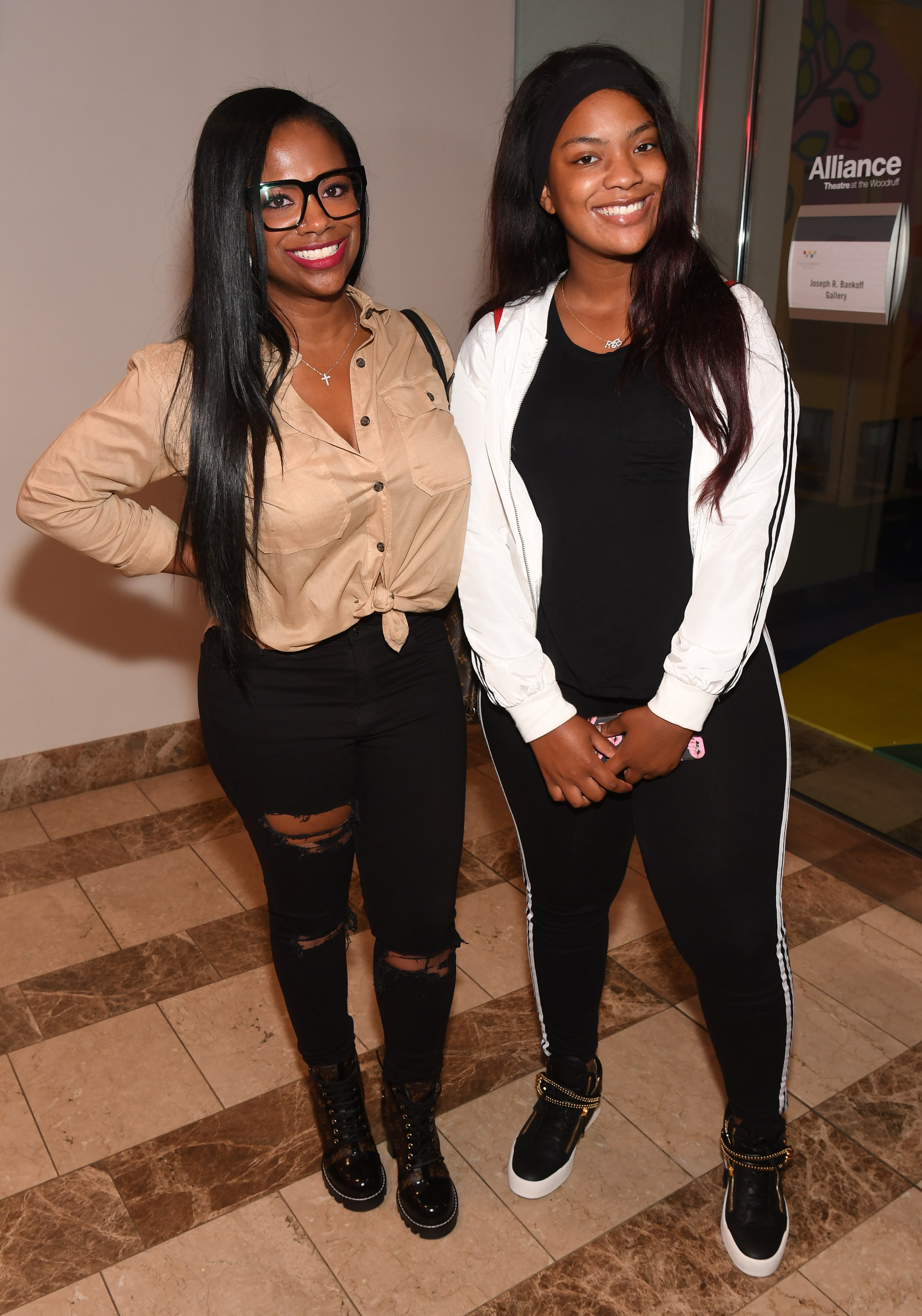 """Riley and Kandi Burruss attend the premiere of """"Growing Up Hip-Hop: Atlanta"""" on May 23, 2017 in Atlanta, Georgia. 