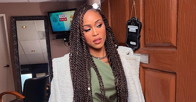 Eve from 'The Talk' Is the Epitome of Glamour in Green Dress & Her Hair in Twists