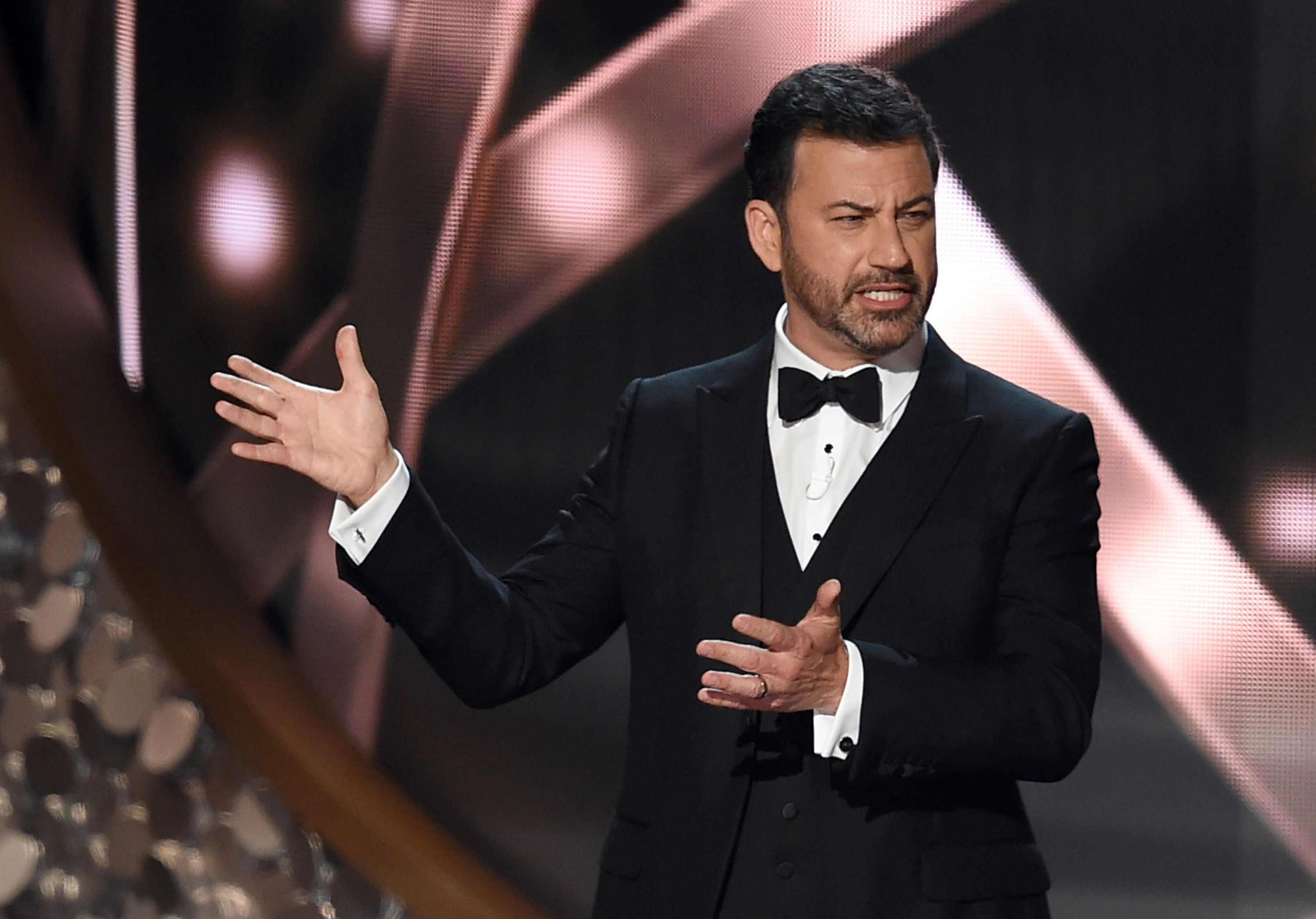 Jimmy Kimmel at the 68th Annual Primetime Emmy Awards in September 2016 in Los Angeles | Source: Getty Images