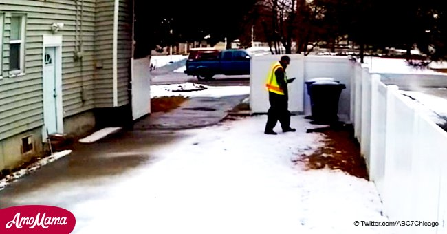 Amazon delivery employee caught relieving his needs in customer's yard