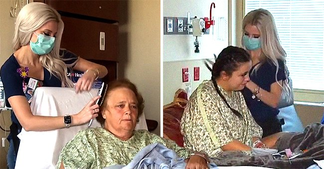 Caring nurse brushes tired patients' hair on her days off | Photo: Youtube/KTNV Channel 13 Las Vegas