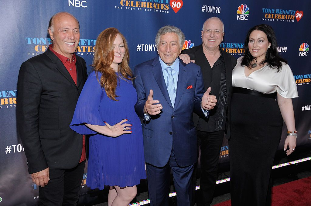 Danny Bennett, Antonia Bennet, Tony Bennett, Dae Bennett and Joanna Bennett attend 'Tony Bennett Celebrates 90: The Best Is Yet To Come' at Radio City Music Hall on September 15, 2016 in New York City.   Photo: Getty Images