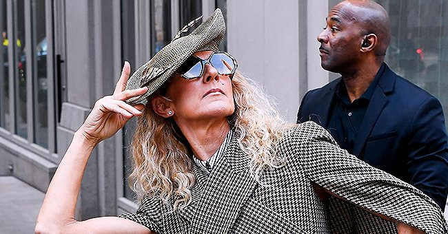 Céline Dion Accentuates Her Slim Figure in Plaid Cape Dress and Knee-High Black Boots in NY