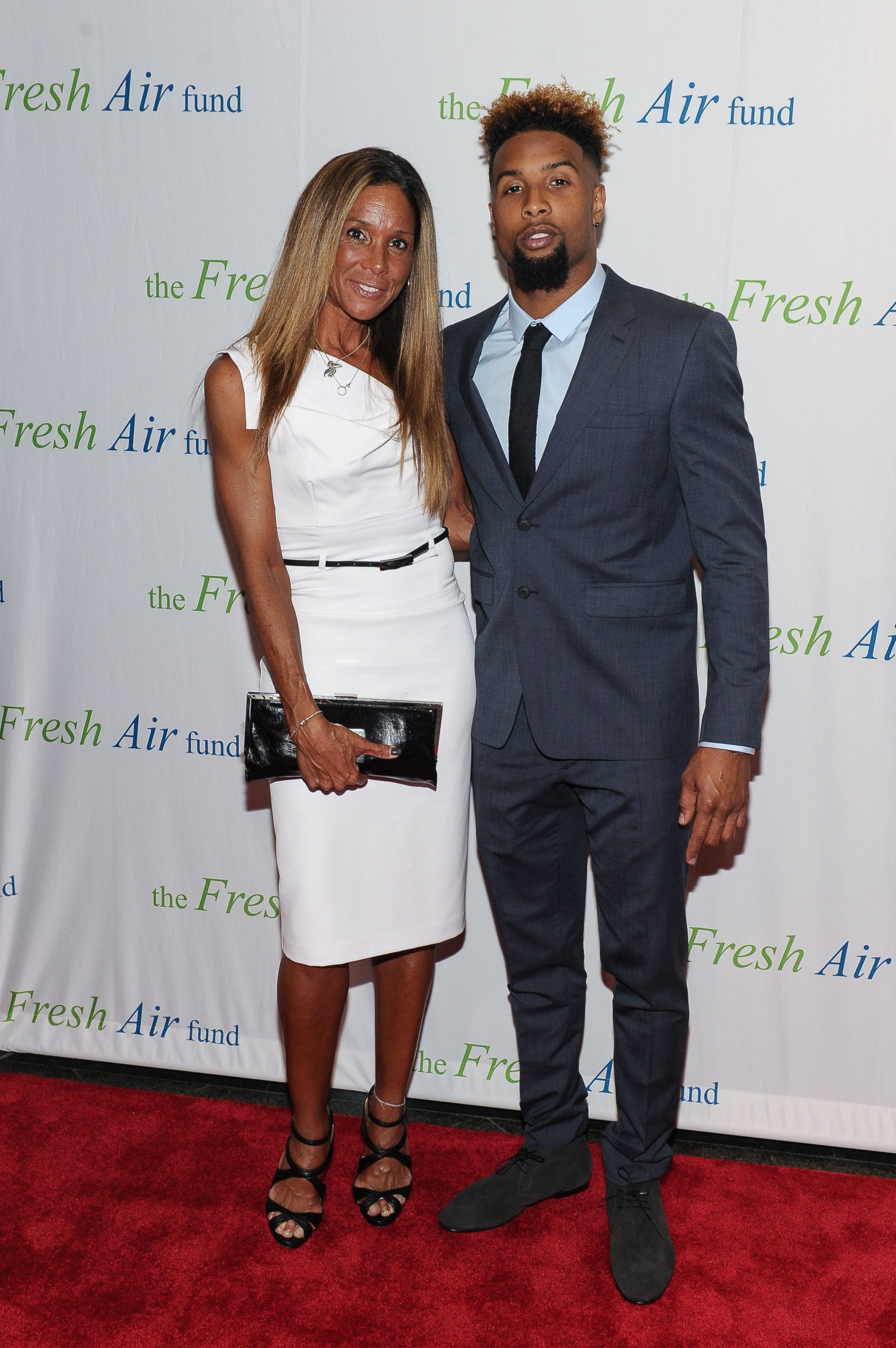 Odell Beckham Jr. and his mother Heather Van Norman attend Fresh Air Fund's Salute to American Heroes in 2015 in New York City | Source: Getty Images