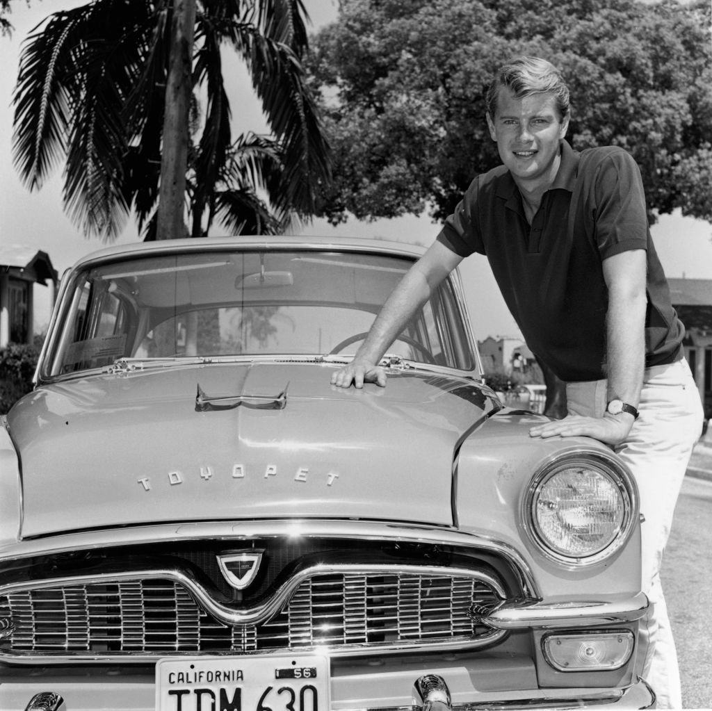 Troy Donahue in 1956 in California | Source: Getty Images