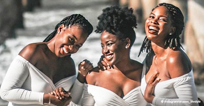 Viral maternity shoot of Nigerian sisters who got pregnant at the same time melts hearts