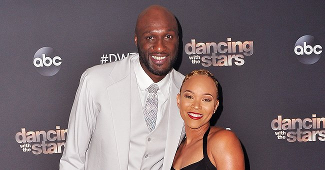 Lamar Odom and ex Sabrina Parr.   Photo: Getty Images