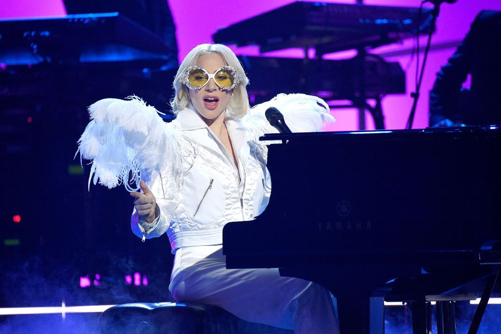 Lady Gaga onstage during the 60th Annual Grammy Awards - I'm Still Standing: A Grammy Salute To Elton John on January 30, 2018, in New York City | Photo: Kevin Mazur/Getty Images