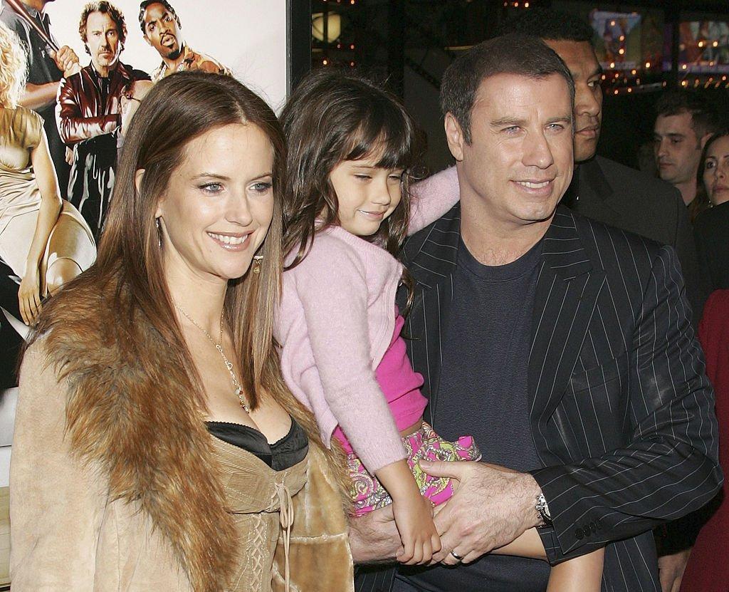 Actress Kelly Preston, daughter Ella Bleu and actor John Travolta walk on the red carpet | Photo / Getty Images