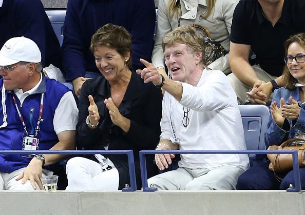 Robert Redford and his wife Sibylle Szaggars attend the Men's Final on day fourteen of the 2015 US Open at USTA Billie Jean King National Tennis Center on September 13, 2015 | Photo: Getty Images