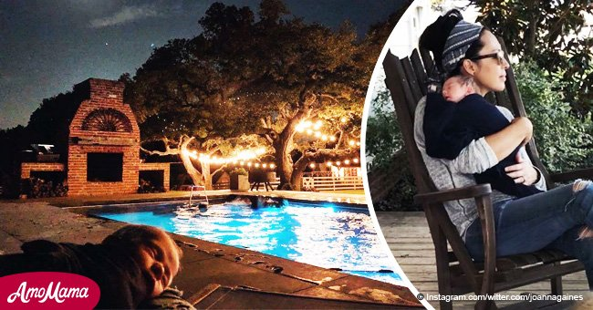 Joanna Gaines enjoys a lazy summer night with her baby Crew