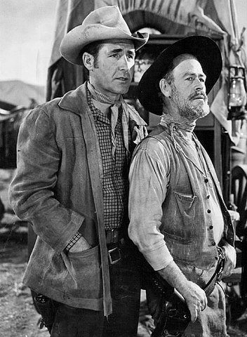 """Sheb Wooley and Paul Brinegar on """"Rawhide"""" in 1961. 