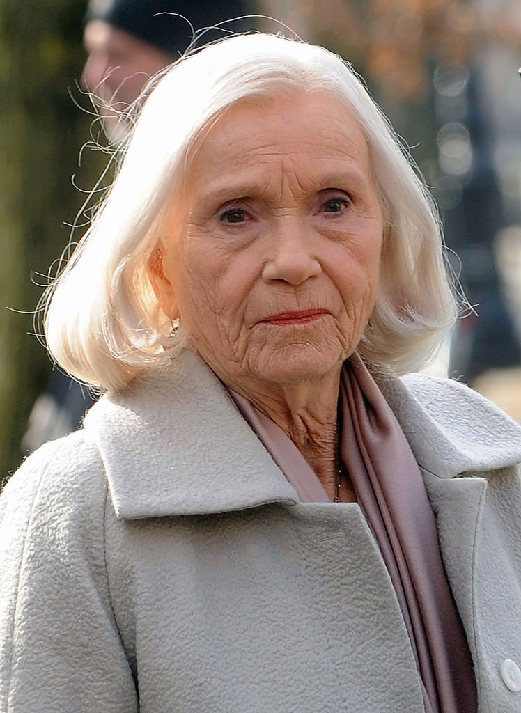 """Eva Marie Saint filming on location for """"Winter's Tale"""" on February 6, 2013 in the Brooklyn borough of New York City 