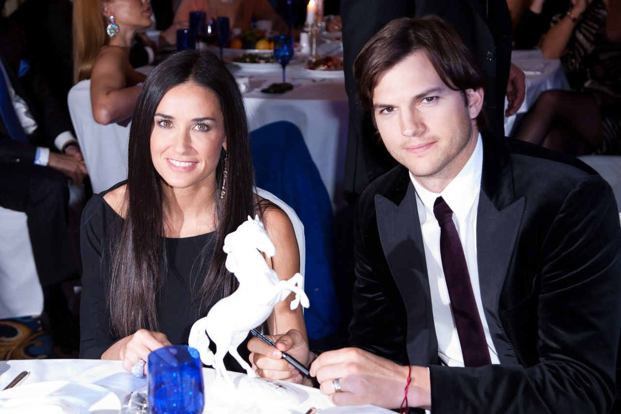 Demi Moore and Ashton Kutcher attend the Charity Gala at The Ritz-Carlton on October 30, 2010 in Moscow, Russia. | Source: Getty Images