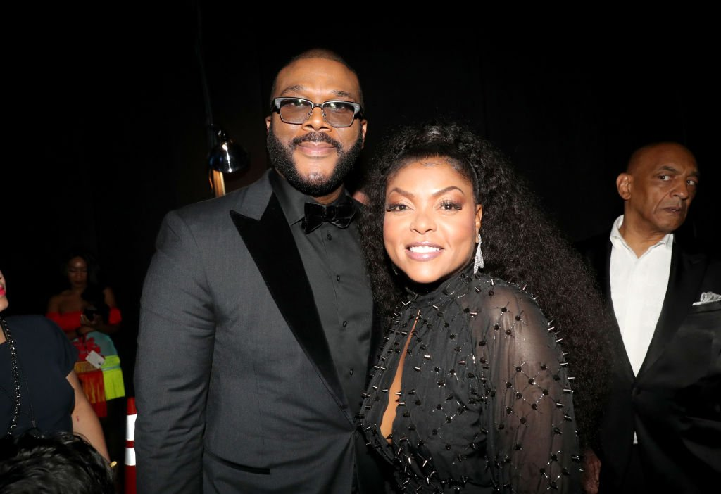 Tyler Perry & Taraji P. Henson at the 2019 BET Awards on June 23, 2019 in Los Angeles, California.  Photo: Getty Images