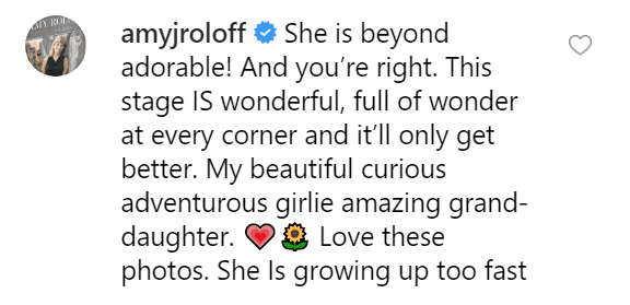 Amy Roloff's comment on Jeremy Roloff's post. | Source: Instagram/jeremyroloff