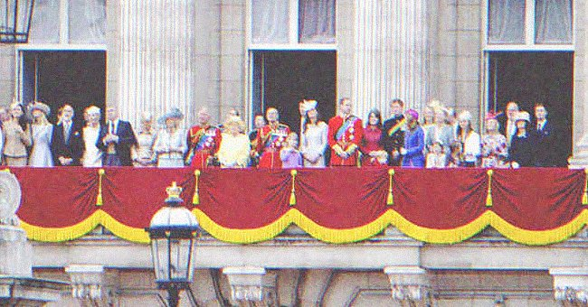 The British royal family on the balcony of the palace. | Source: Shutterstock