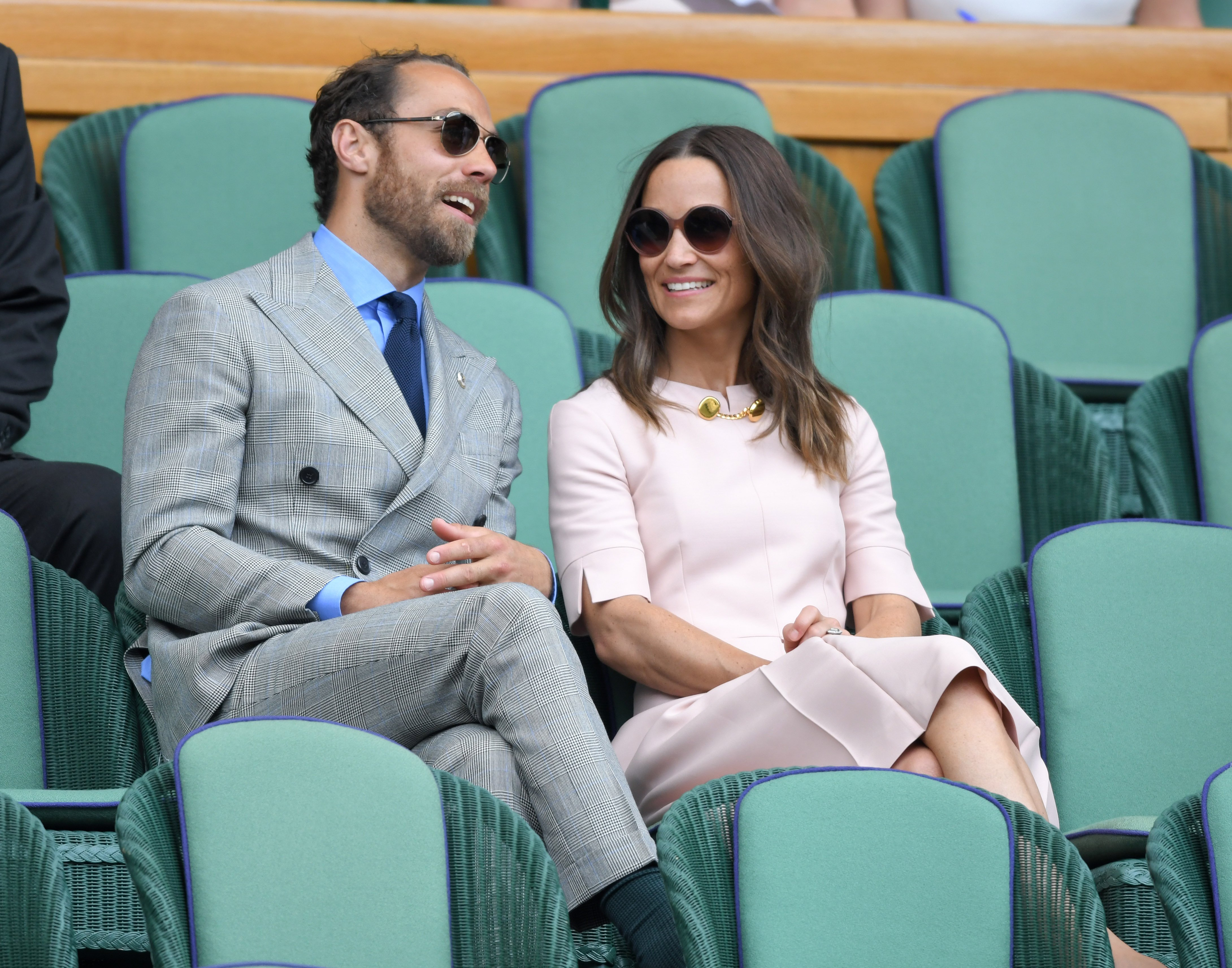 es Middleton et Pippa Middleton assistent à la septième journée des Championnats de tennis de Wimbledon | Source : Getty Images