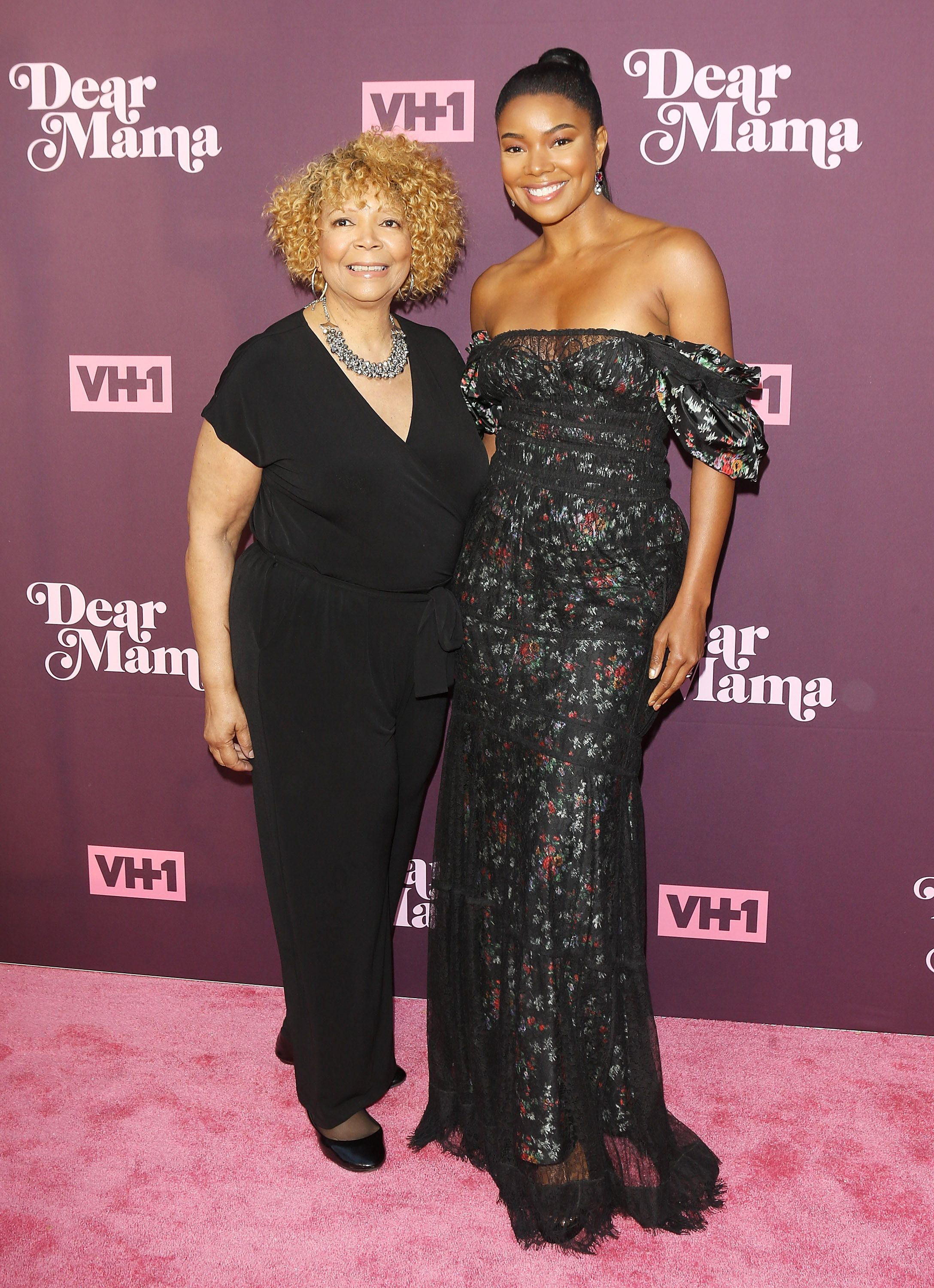 """Gabrielle Union and her mother Theresa Union at VH1's 3rd Annual """"Dear Mama: A Love Letter To Moms"""" in 2018 