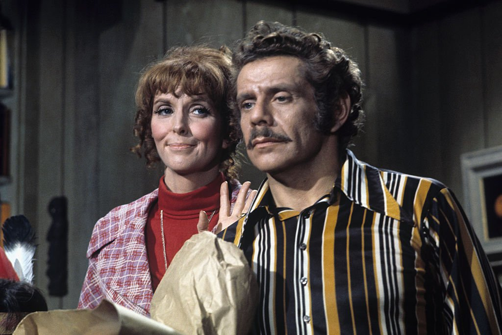 "Anne Meara (as Bunny), Jerry Stiller (as Paul) on the Walt Disney Television comedy ""The Courtship of Eddie's Father"" in November 1971. 