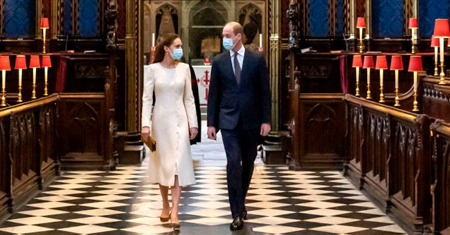 Kate Middleton Stuns in Bridal White as She Returns to Her Wedding Venue with Prince William