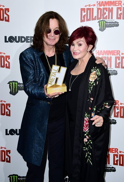 Ozzy Osbourne et sa femme Sharon Osbourne au Metal Hammer Golden Gods Awards 2018| Photo: Getty Images