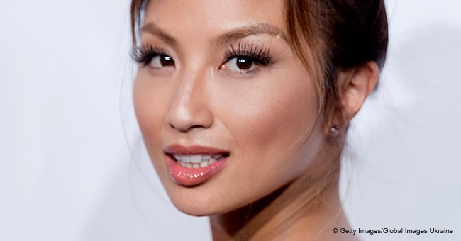 Jeannie Mai shows off tattoos and fuller curves in blue swimsuit after weight gain