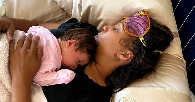 Steve Harvey's Wife Marjorie Enjoys Cuddle Time with New Granddaughter Joey Iris in a Sweet Pic