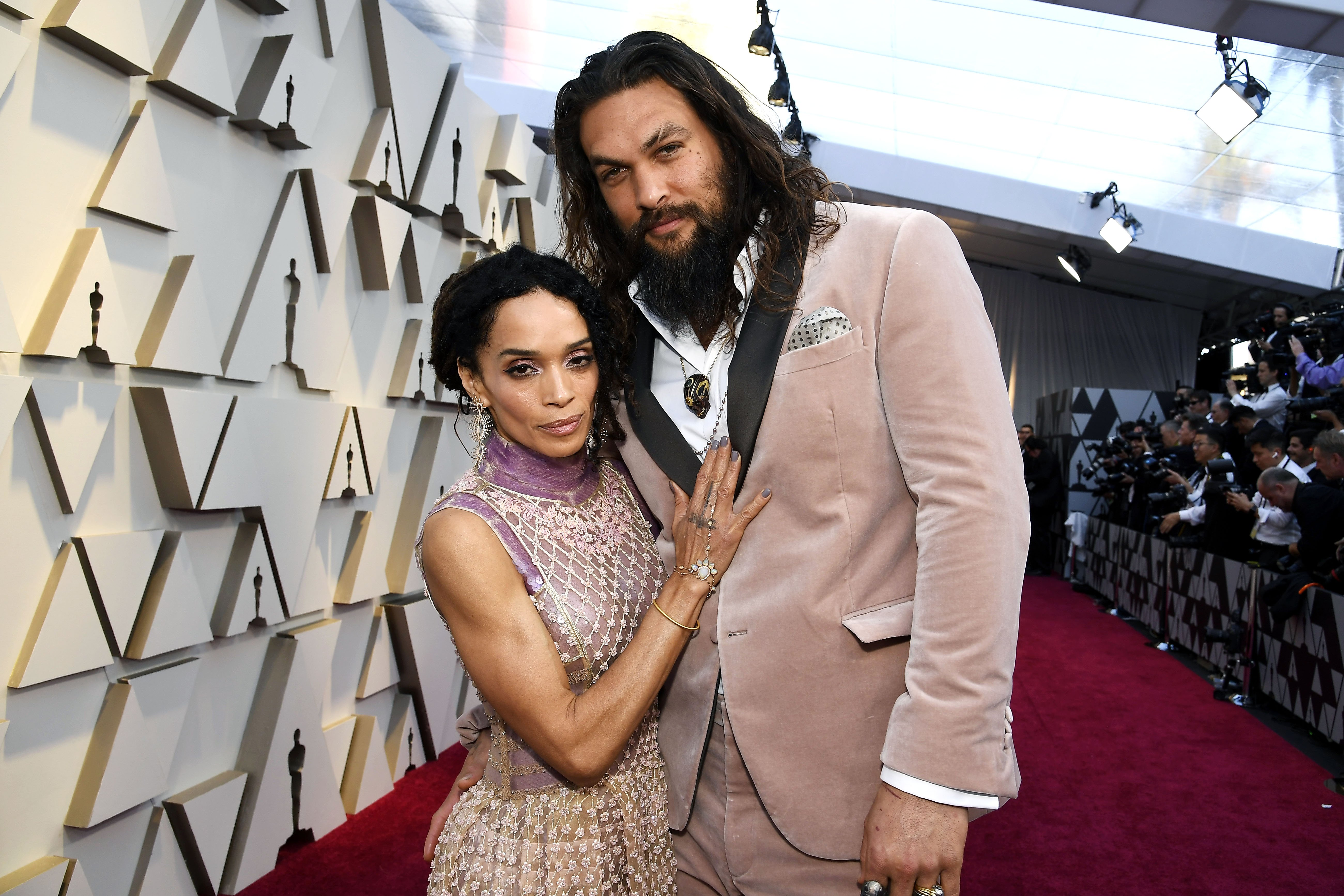 Jason Momoa and Lisa Bonet attend the 91st Annual Academy Awards. Photo: Getty Images